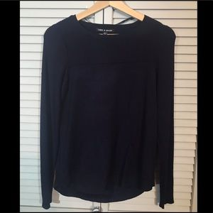 Cable & Gauge Small Navy Sweater NWT